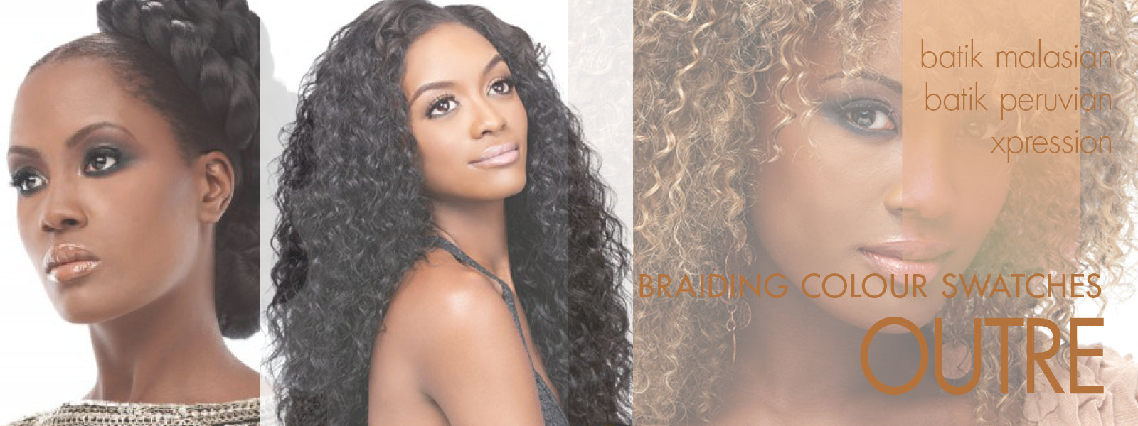 Outre braiding extensions colour swatches