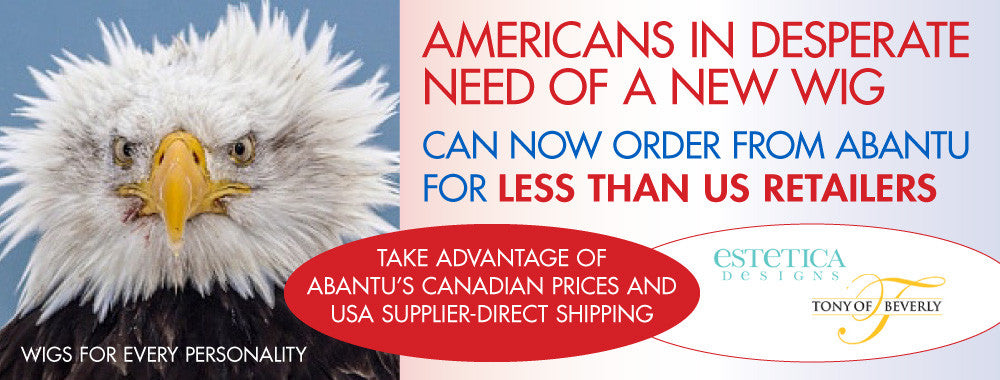 American shoppers save when ordering Estetica and Tony of Beverly wigs from Abantu