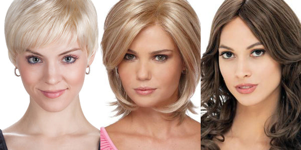 Three lengths of wigs to choose from