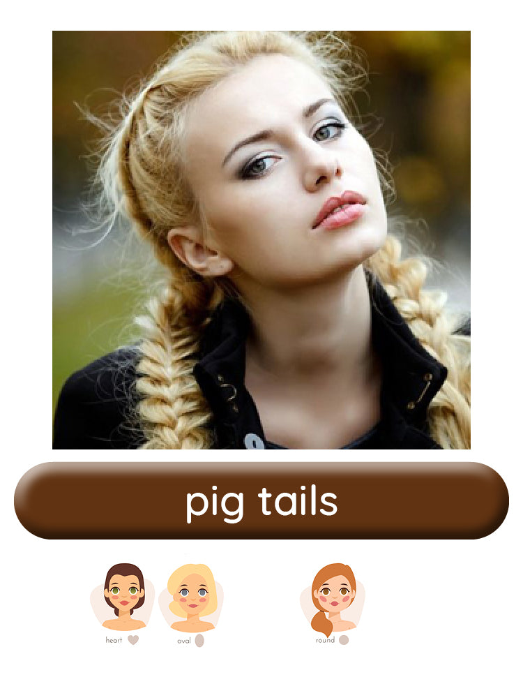 Pig Tails wig style