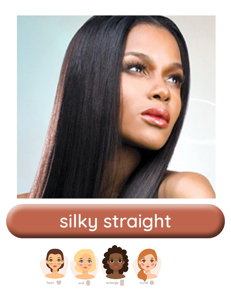 Silky Straight wig style