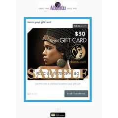 Gift Card with trackable balance