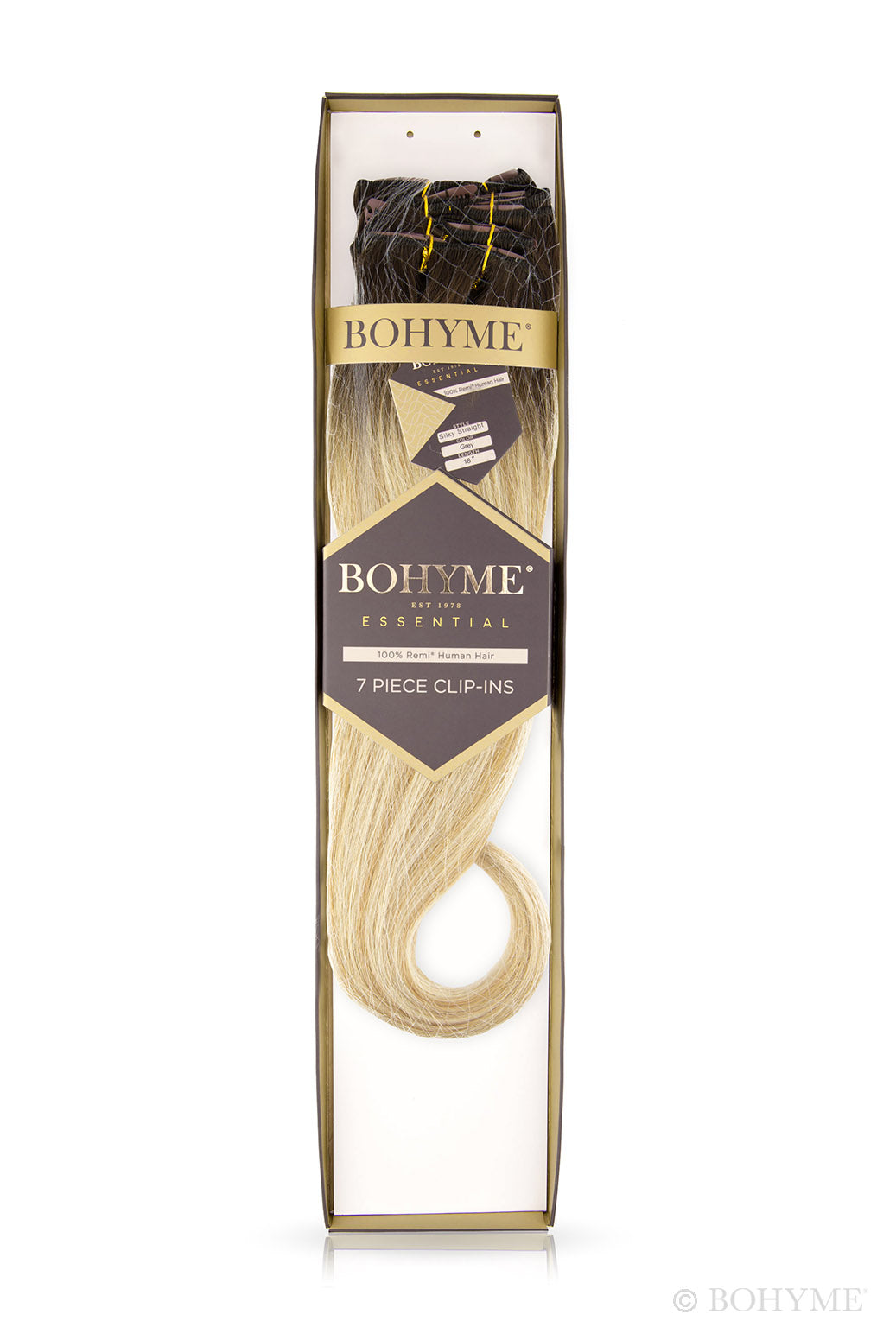 "Bohyme Essential 7 Piece Silky Straight Clip-ins 14"" Extensions"