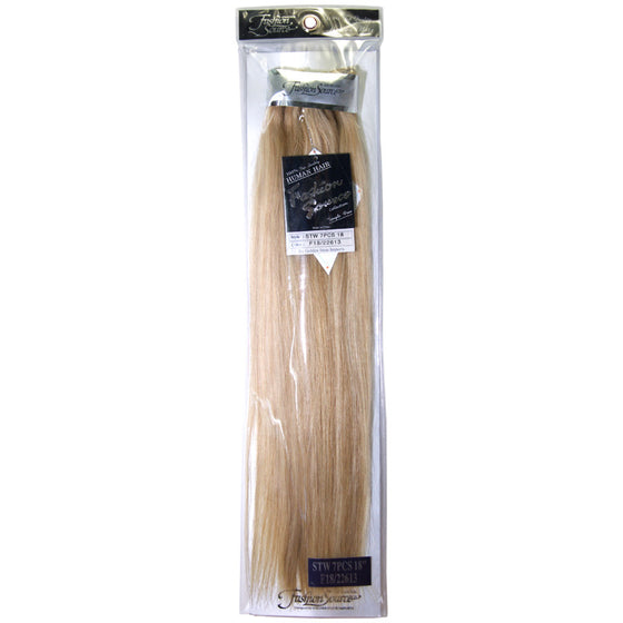 "Fashion Source STW Remy 7-piece Clip-in 18"" Extensions"