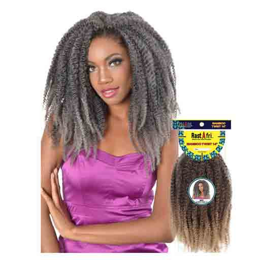 "Fashion Source Rasta Afri Bamboo Twist 14"" Synthetic Hair"