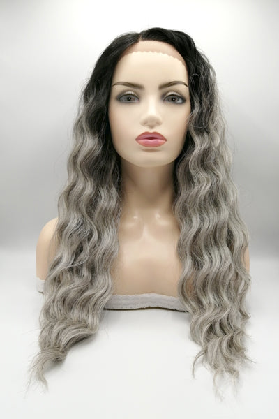 Natural Way Nancy Plus Lace Frontal Synthetic Hair Wig TT1B/Grey