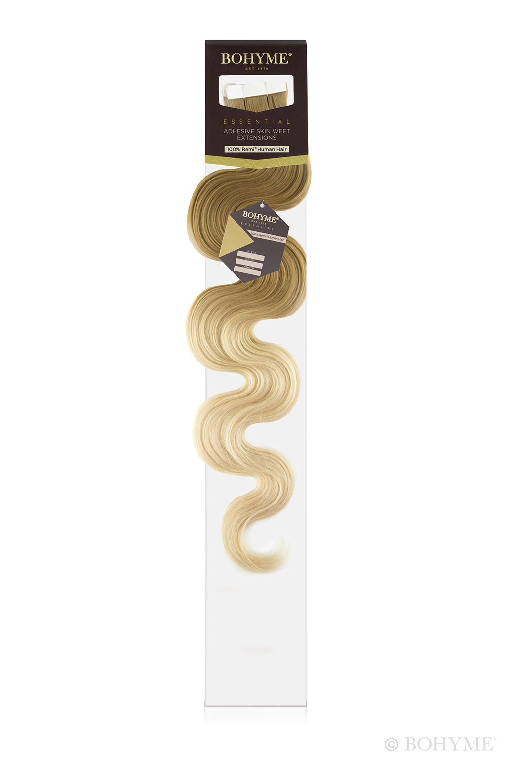 "Bohyme Essential Body Wave Tape Ins 18"" Extensions"
