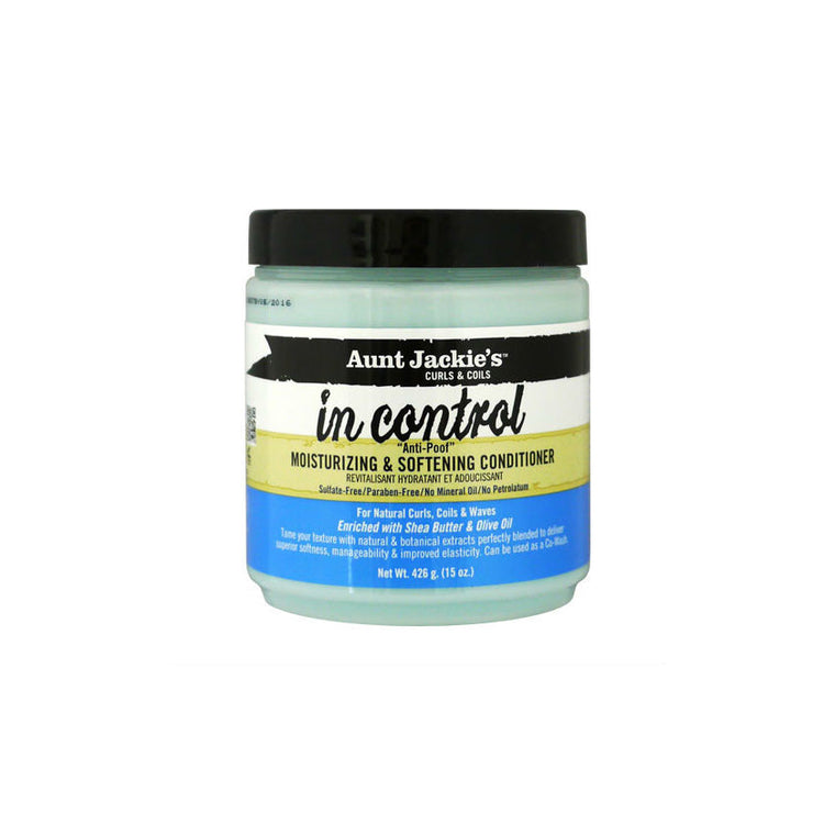 Aunt Jackie's Curls & Coils In Control Anti-Poof Moisturizing & Softening Conditioner