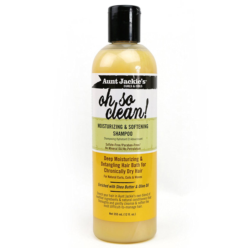 Aunt Jackie's Curls & Coils Oh So Clean Moisturizing & Softening Shampoo