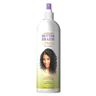 Better Braids Medicated Spray available from Abantu