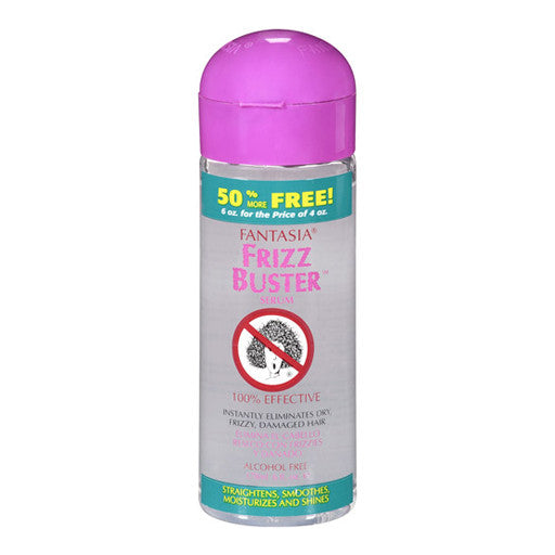 Fantasia Frizz Buster Serum 6 oz. bottle available at Abantu