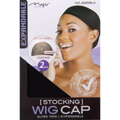 Magic Stocking Wig Cap 2225 Black