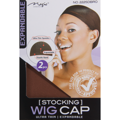 Magic Stocking Wig Cap, Dark Brown available at Abantu