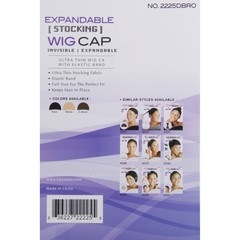 Magic Stocking Wig Cap, Dark Brown product information