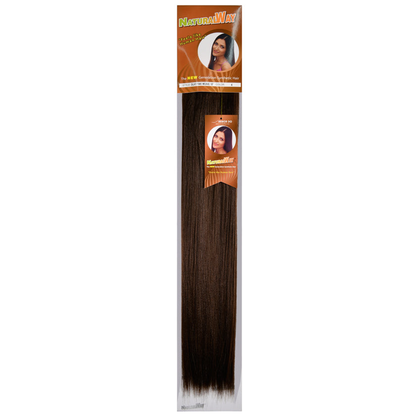 "Natural Way Silky Yaki Weave Synthetic 18"" Extensions at Abantu"