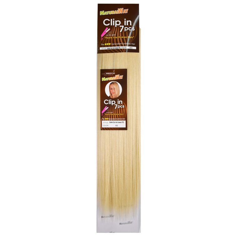 "Natural Way Synthetic 7-piece Clip-in 18"" Extensions available at Abantu"
