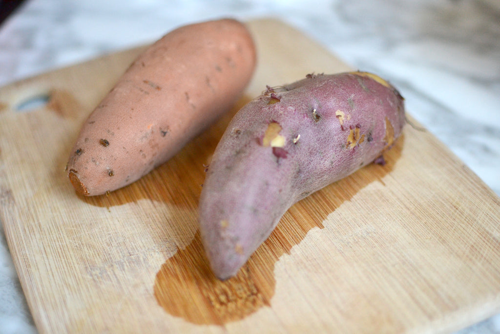 Black Garlic Glazed Sweet Potatoes