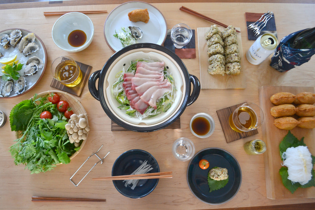 Cooking The Donabe Book: Yellowtail Shabu Shabu