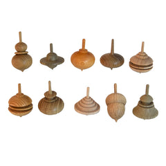 Wooden Spinning Tops 10-Pack