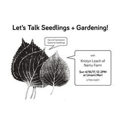 Namu Farm Seasonal Seedlings Event