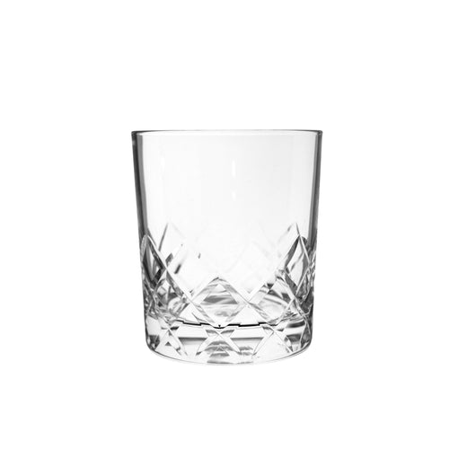 Hard Strong Diamond Cut Rocks Glasses (6-Pack)