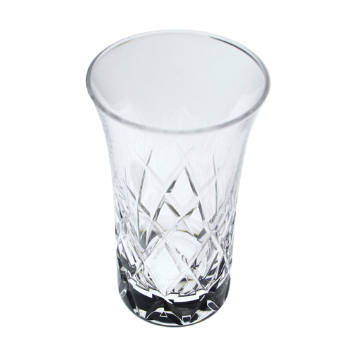Hard Strong Diamond Cut Sake Flute Glass (6-Pack)