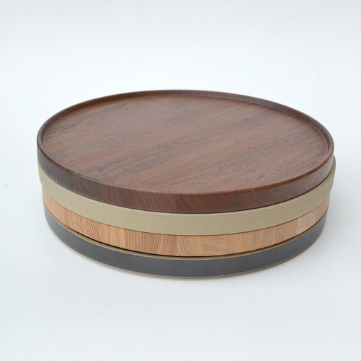Hasami Porcelain Walnut Wood Tray 7-1/3""