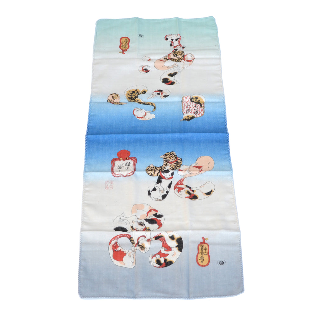 Cats, Blowfish + Octopus Tenugui Kitchen Towel – Umami Mart