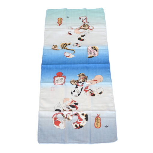 Cats, Blowfish + Octopus Tenugui Kitchen Towel