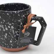 Splash Black White Chips Mug