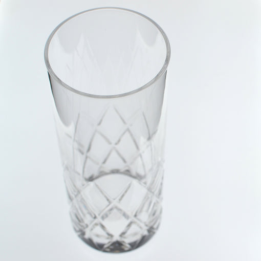 Hard Strong Diamond Cut Collins Glass 400ml (6-Pack)