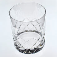 Hard Strong Diamond Cut XL Rocks Glass (6-Pack)