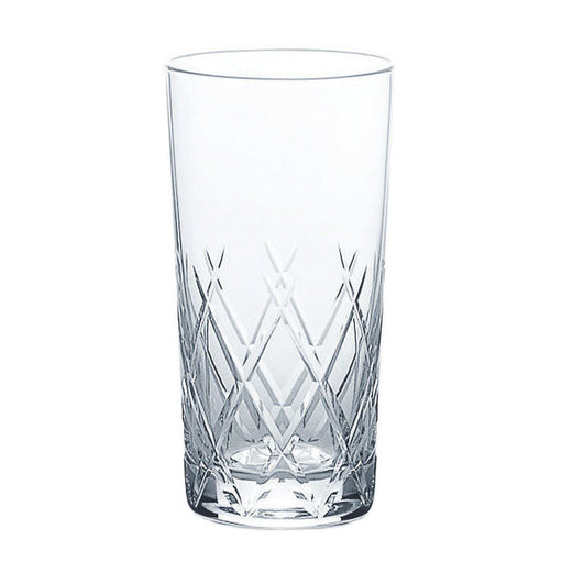 Toyo-Sasaki Hard Strong Diamond Cut Highball Glasses