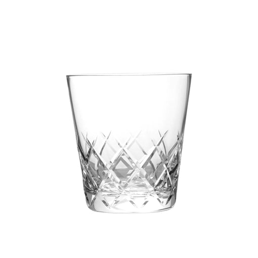 Hard Strong Diamond Cut Old Fashioned Glass (6-Pack)