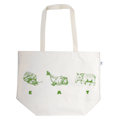 Wormfun EAT Tote for Umami Mart 100% Cotton Bag
