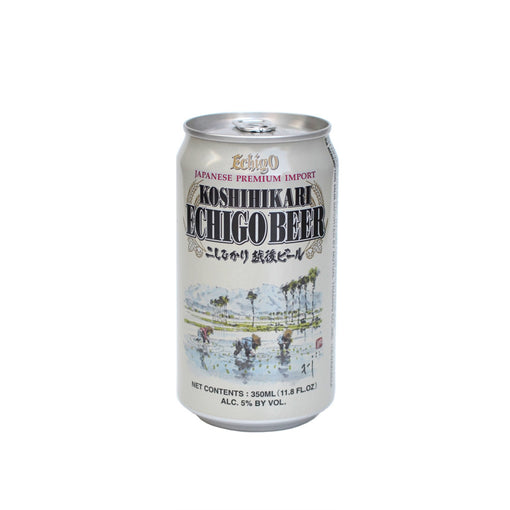 Koshihikari Echigo Beer Japanese Lager Craft Beer in a Can