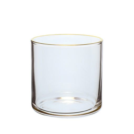 Toyo-Sasaki Large Flat-Bottom Circle Glasses with Gold Rim