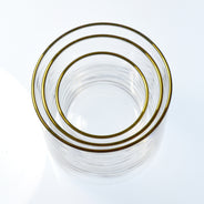 Gold Large Circle Glass (6-Pack)