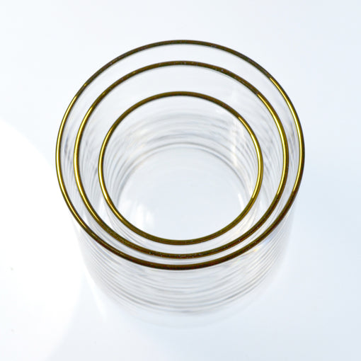 Gold Medium Circle Glass (6-Pack)