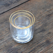Gold Small Circle Glass (6-Pack)