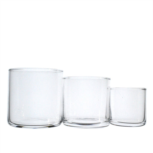 Large Flat-Bottom Circle Glasses (6-Pack)