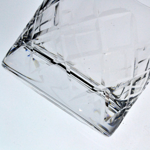 Umami Mart Hard Strong Diamond Cut Rocks Glass (6-Pack)