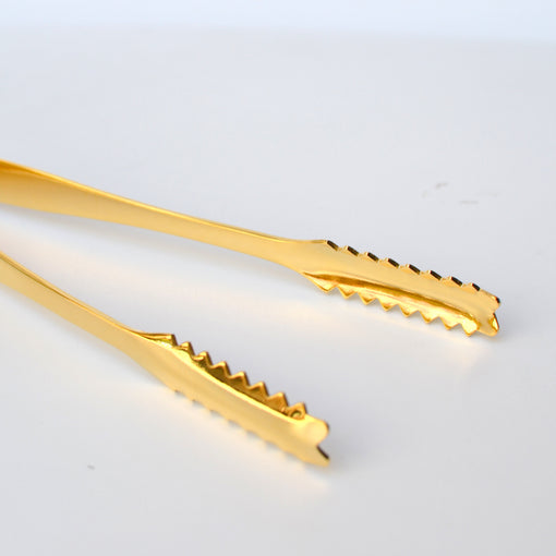 Gold-plated Jagged Grip Ice Tongs