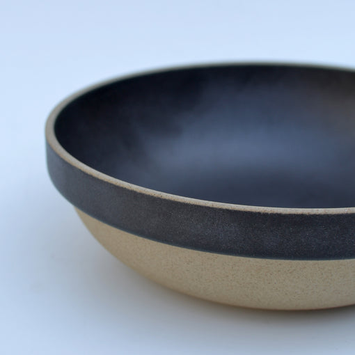 "Hasami Black Round Bowl 7-1/3"" Close Up"