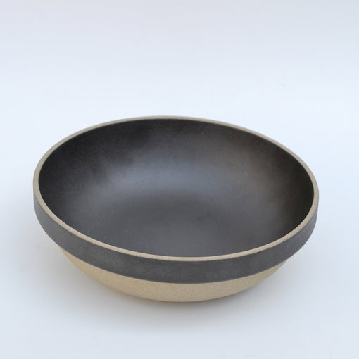 "Hasami Black Round Bowl 7-1/3"" Overhead"