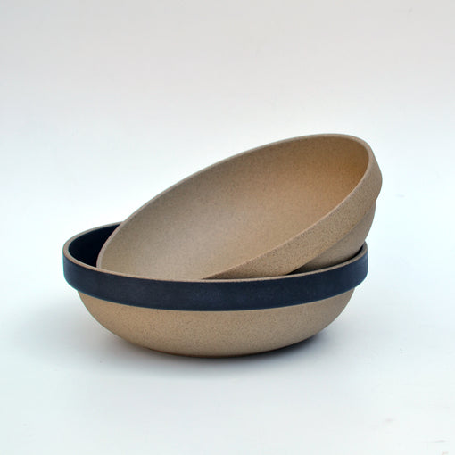 Hasami Brown and Black Round Bowl