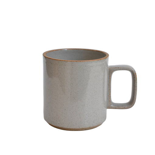 Medium Hasami Porcelain Gloss Gray Mug 13 oz