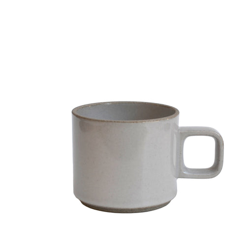 Small Gloss Gray Hasami Porcelain Mug 11 oz