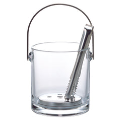 Plain Ice Bucket with Tongs