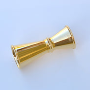24K Gold-Plated 0.75/0.5 oz Jigger with Lines